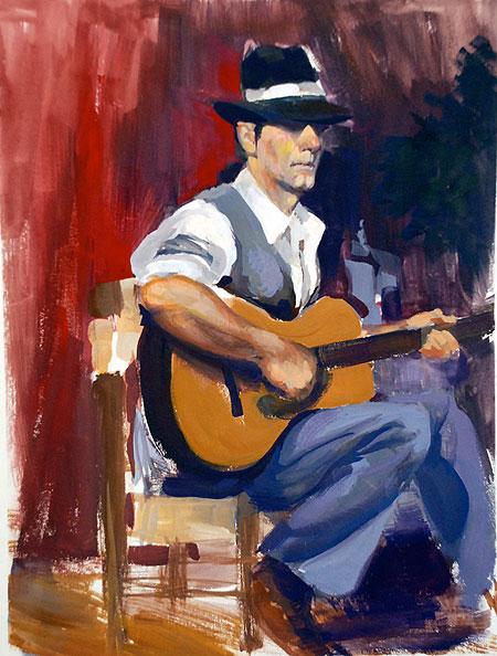 Flamenco Guitarist Theme And Artwork