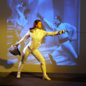 Laura Napoli as the Fencer, 5 to 15 min poses.